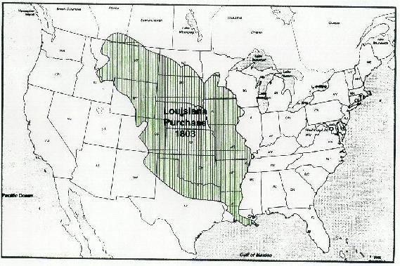 Map Of Louisiana Purchase. Louisiana Purchase